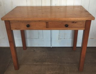 Pine Side Table Antique Repro