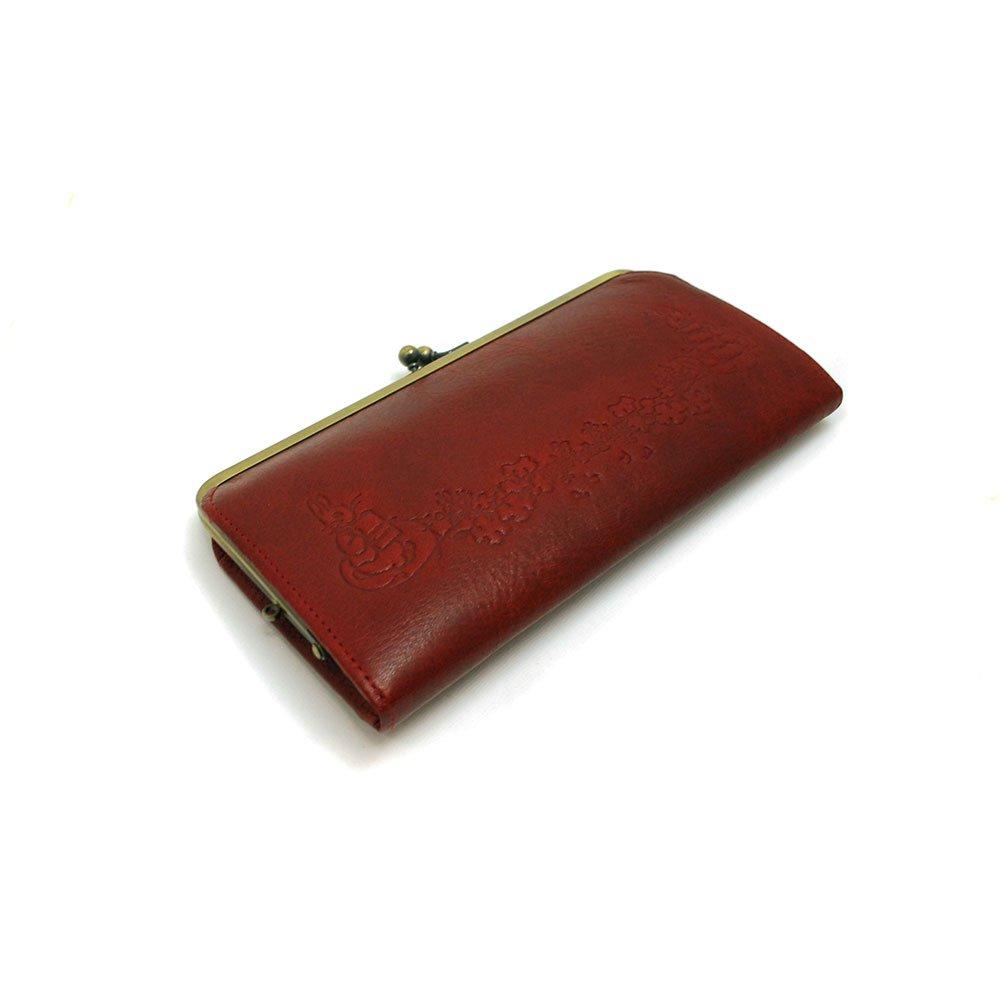 ピングー 本革長財布 がまぐち(ピーター&ベンジャミン)レッド 72004 PR