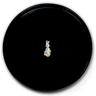 【お取り寄せ】丸盆(ピーターラビットA 貝入)黒  PR