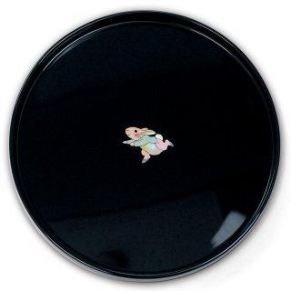 【お取り寄せ】丸盆(ピーターラビットB 貝入)黒  PR