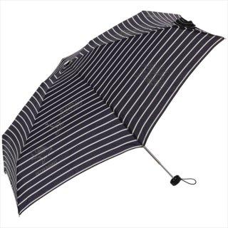 【生産終了品】折りたたみ傘(ボーダー5段ミニ)ネイビー 8604 PR