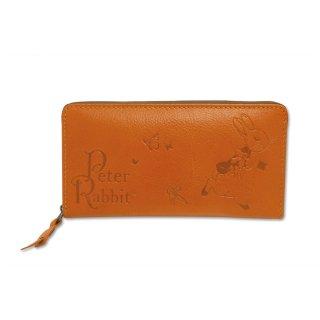 ラウンドジップ長財布(ステップ)キャメル 85022 PR