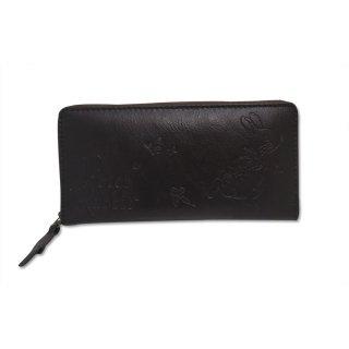ラウンドジップ長財布(ステップ)チョコ 85022 PR