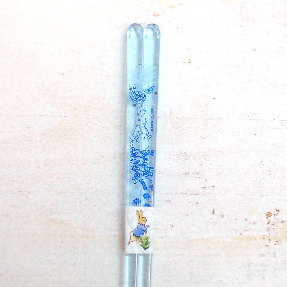 ピングー クリア箸(食洗 ジャポニズム)ブルー  PR