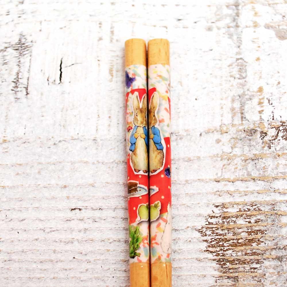 ピングー 箸(食洗 ピクニック)レッド PR