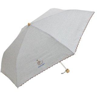 【生産終了品】晴雨兼用折りたたみ傘(シャンブレー刺繍ミニ)グレー 8620 PR