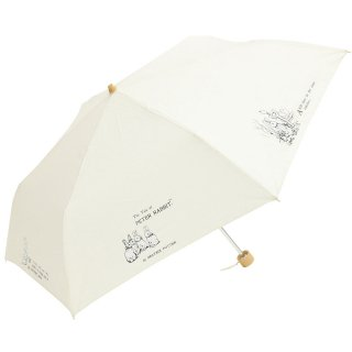 晴雨兼用折りたたみ傘(tcプリントミニ)オフホワイト 8621 PR