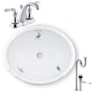 【メーカー直送】洗面ボウル+水栓+排水配管セット PRB2801(ピーター)+KOHLER A PR