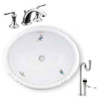【メーカー直送】洗面ボウル+水栓+排水配管セット PRB2801(ピーター)+KOHLER B PR