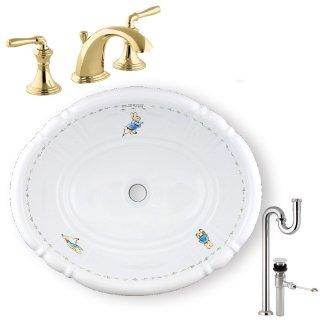 【メーカー直送】洗面ボウル+水栓+排水配管セット PRB2801(ピーター)+KOHLER C PR