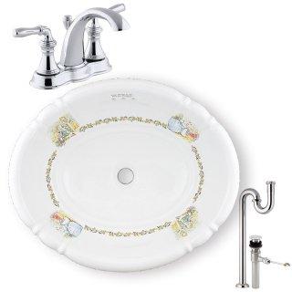 【メーカー直送】洗面ボウル+水栓+排水配管セット PRB2802(おはなし)+KOHLER A PR