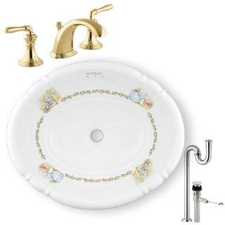 【メーカー直送】洗面ボウル+水栓+排水配管セット PRB2802(おはなし)+KOHLER C PR