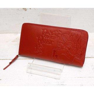 ラウンドジップ長財布(ガーデン)レッド 85052 PR