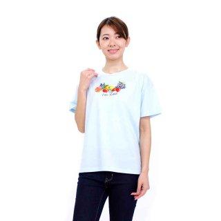 【生産終了品】フルーツプリントTシャツ(サックス)L 392103-81 PR