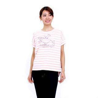 【生産終了品】ジャンピングピーターボーダーTシャツ(ピンク)L 392104-41 PR