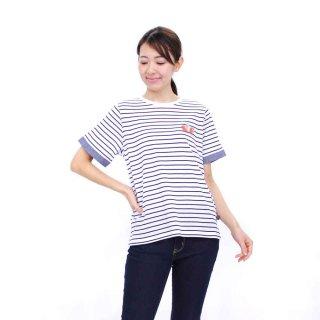 【生産終了品】いちごプリントボーダーTシャツ(オフホワイト)L 392105-12 PR