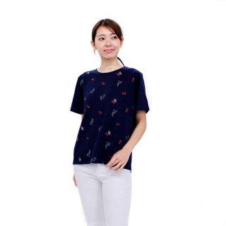 【生産終了品】いちごプリント切り替えTシャツ(ネイビー)LL 392107-84 PR