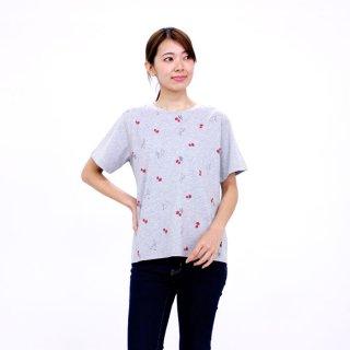 【生産終了品】いちごプリント切り替えTシャツ(グレー)LL 392107-93 PR