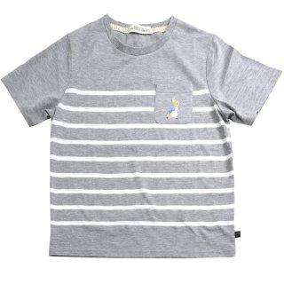 【生産終了品】パネルボーダーTシャツ(グレー)L 392121 PR