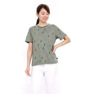総柄Tシャツ(カーキ)LL 392123 PR