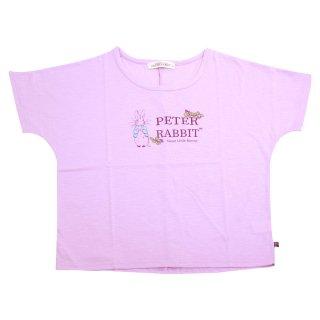ロゴプリントワイドTシャツ(ライトパープル)M 392125 PR