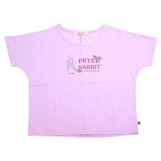 ロゴプリントワイドTシャツ(ライトパープル)L 392125 PR