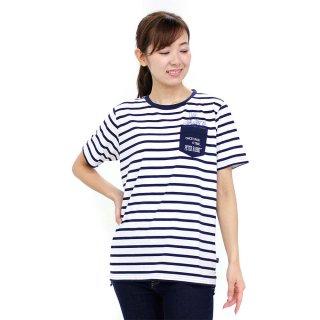 ポケット付ロング丈Tシャツ(オフホワイト)L 392144 PR