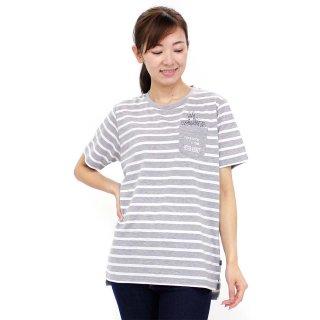 ポケット付ロング丈Tシャツ(グレー)M 392144 PR