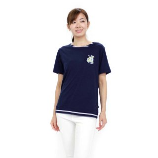 フェイクレイヤードTシャツ(ネイビー)L 392145 PR
