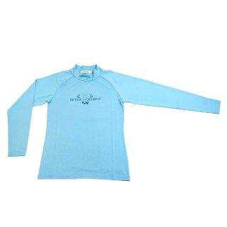 ラッシュガードハイネック(ブルー)L 392150 PR