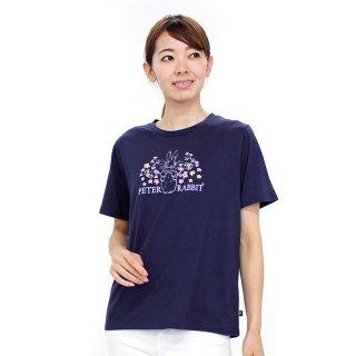 お花畑ピーターTシャツ(ネイビー)LL 392162-84 PR