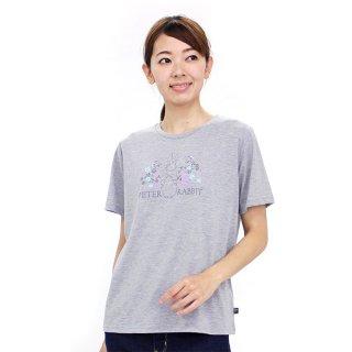お花畑ピーターTシャツ(杢グレー)L 392162-93 PR