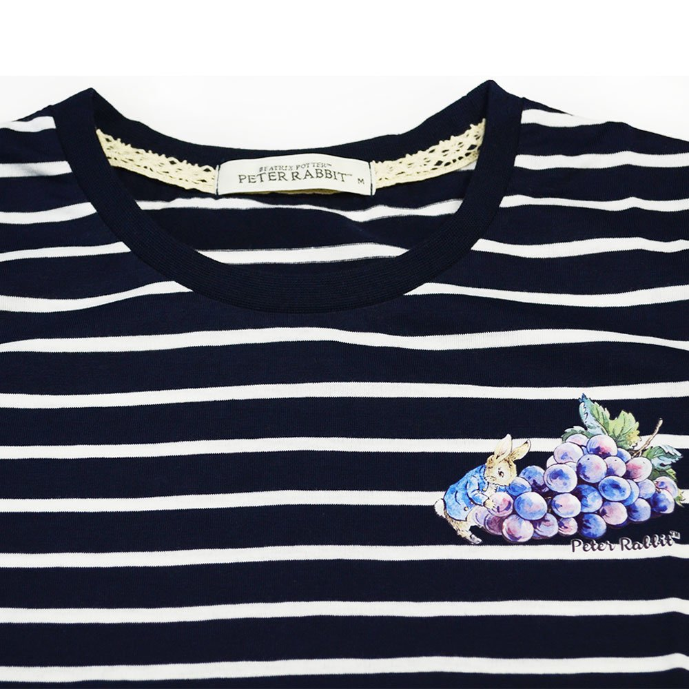 ピングー グレープボーダーTシャツ(ネイビー)L 392164-84 PR