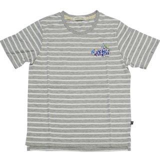 グレープボーダーTシャツ(杢グレー)L 392164-93 PR
