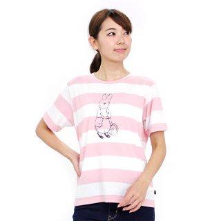 ボーダーTシャツ(ピンク)M 392165-41 PR