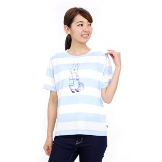 ボーダーTシャツ(サックス)L 392165-81 PR