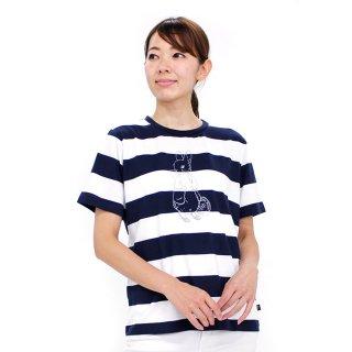 ボーダーTシャツ(ネイビー)M 392165-84 PR