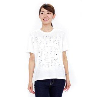 パターンTシャツ(オフホワイト)LL 392166-12 PR