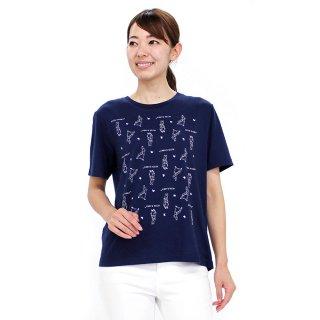 パターンTシャツ(ネイビー)L 392166-84 PR