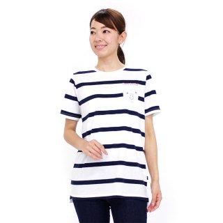 ポケット付ロングTシャツ(オフホワイト)M 392168-12 PR