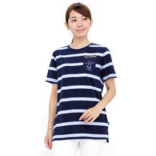 ポケット付ロングTシャツ(ネイビー)M 392168-84 PR