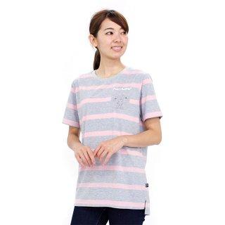 ポケット付ロングTシャツ(杢グレー)L 392168-93 PR