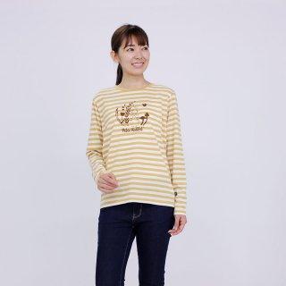 フロッキーボーダー長袖Tシャツ(カラシ)L 394102-24 PR