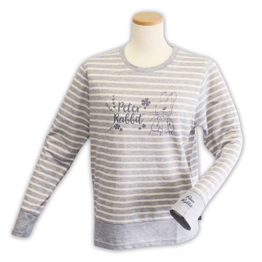 ピングー 切替ボーダーTシャツ(杢グレー)L 394104-93 PR