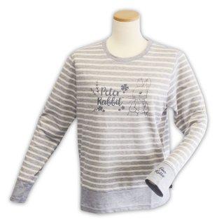 切替ボーダーTシャツ(杢グレー)L 394104-93 PR