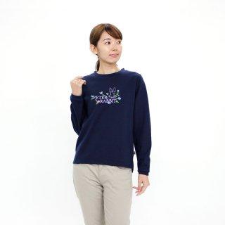 お花プリントトレーナー(ネイビー)M 394124-84 PR