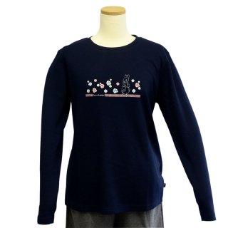 ローズ長袖Tシャツ(ネイビー)M 394141-84 PR