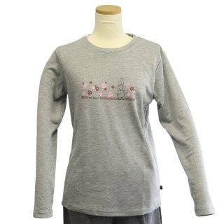 ローズ長袖Tシャツ(グレー)L 394141-93 PR