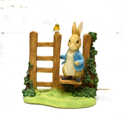 Enesco BP フィギュア(PETER RABBIT ON STILE FIGURINE) A29835        PR
