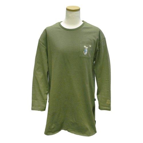 ポケット付ビッグTシャツ(カーキ) L 301124-64 PR